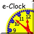 The e-Clock willhelp you learn to tell the time